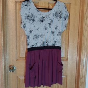 Jolt Gray and Purple Dress